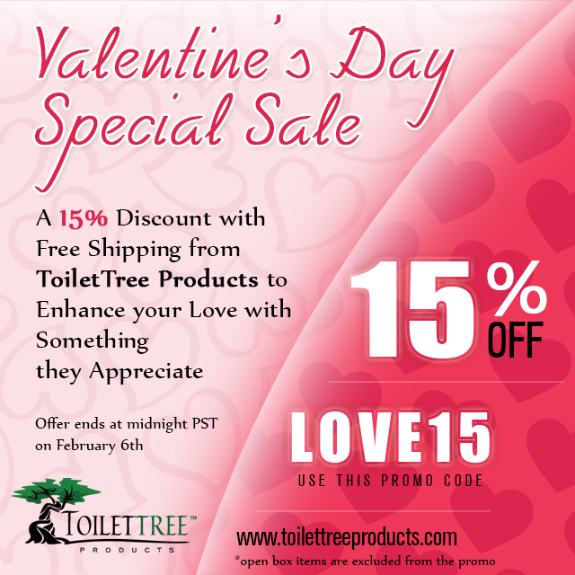 Valentine's Day Sale 2017 at ToiletTree Products
